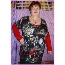 tunika bluzka dla puszystej 52 54 56 4XL XXXL nowa