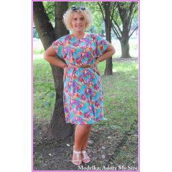 Letnia sukienka dla puszystej 50 52 3XL 2XL XXXL