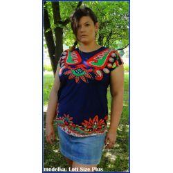 Bluzka tunika dla puszystej 42 44 46 2XL XXL modna
