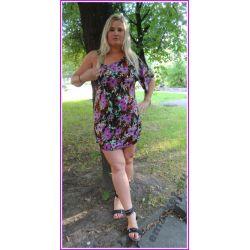 Sukienka tunika bluzka dla puszystej 42 44 XL 2XL