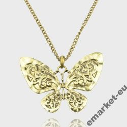 Oryginalny naszyjnik wisiorek motyl motylek !
