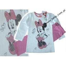 Myszka Minnie piżamka biały/róż 122cm Disney CUDO!