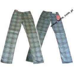 Rurki fajne spodnie denim w kratkę 152 cm