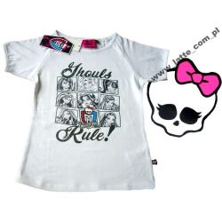 Monster High bluzka biała 152 cm Mattel  BAWEŁNA