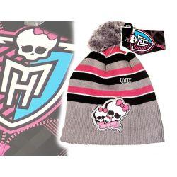 Monster High czapka z pomponem paski 54cm Mattel