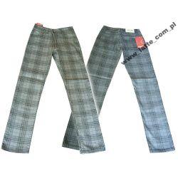 Rurki fajne spodnie denim w kratkę 158 cm