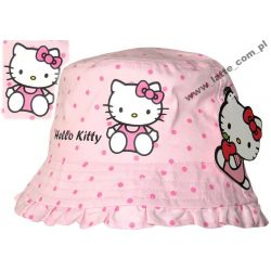 Hello Kitty kapelusik 54cm BAWEŁNA SANRIO