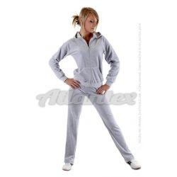 Dresy welurowe damskie komplet: bluza + spodnie prosta nogawka od S do 4XL kolor: szary melanż