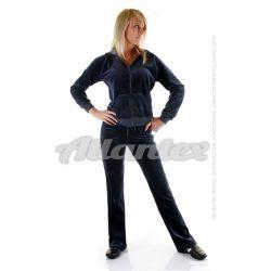 Dresy welurowe damskie komplet: bluza + spodnie prosta nogawka od S do 4XL kolor: antracyt
