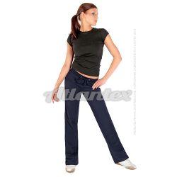 Spodnie dresowe damskie proste nogawki kolor: granatowy
