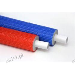 Rura wielowarstwowa PERT/AL/PERT FI 16mm w izolacji termicznej oraz folii czerwonej 50mb