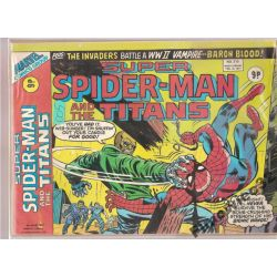 SUPER SPIDER -MEN  AND THE TITANS FEB. 16 ,1977