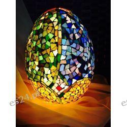 WITRAŻOWA EGIPSKA LAMPA W KSZTAŁCIE JAJA
