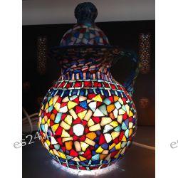 WITRAŻOWA EGIPSKA LAMPA W KSZTAŁCIE DZBANA