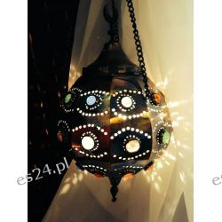 MOSIĘŻNA ORIENTALNA LAMPA W KSZTAŁCIE KULI