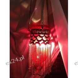ORIENTALNA RÓŻOWA LAMPKA W STYLU ART DECO