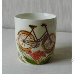Ceramiczny kubek z motywem-rower.