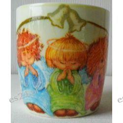 Ceramiczny kubek z motywem-aniołki.