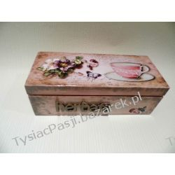 Herbaciarka - pudełko na herbatę z trzema przegródkami.