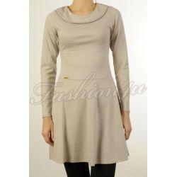 *Fsh4u* Rozkloszowana sukienka beżowa M