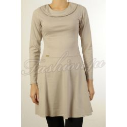 *Fsh4u* Rozkloszowana sukienka beżowa S