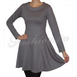 *Fsh4u* Rozkloszowana sukienka siwa L