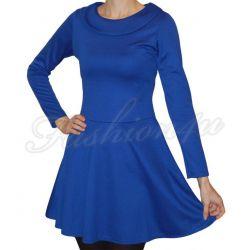 *Fsh4u* Rozkloszowana sukienka niebieska S