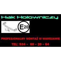 Peugeot 307 hak holowniczy montaż Warszawa