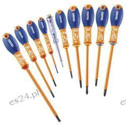 Zestaw 10 Wkrętaki izolowane 1000 V do śrub Phillips® | E160912
