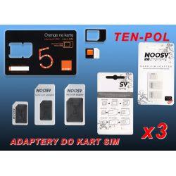 ADAPTER DO KARTY NANO SIM->MIKRO SIM->SIM+KL