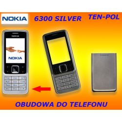 OBUDOWA NOKIA 6300 SILVER bez klawiatury