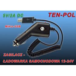 ŁADOWARKA 12-24V USB OUT 5V-2A  MIKRO-USB