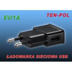 ŁADOWARKA SIECIOWA 230V USB=5V/1A + PRZEWODY x10