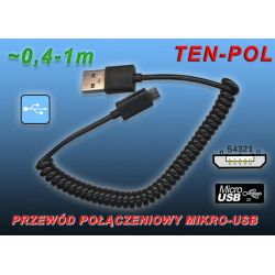KABEL MIKRO-USB->USB HTC,NOKIA,LG,SAMSUNG ~ 1m