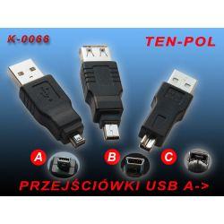 PRZEJŚCIÓWKA ADAPTER ZŁĄCZKA USB  A-B-C