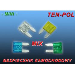 BEZPIECZNIK SAMOCHODOWY MINI - MIX -  Kpl.60sztuk