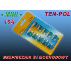 BEZPIECZNIK SAMOCHODOWY MINI -10A BLISTER x 10szt.