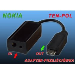 ADAPTER DO ŁADOWAREK CA146 MIKRO USB BLACK BERRY
