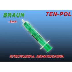STRZYKAWKA JEDNORAZOWA 2-CZĘŚCIOWA 5ml BRAUN x10