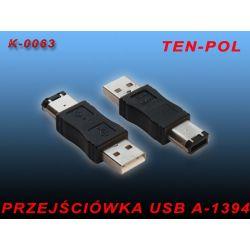 PRZEJŚCIÓWKA ADAPTER ZŁĄCZKA USB WT-WT A-1394(6P)