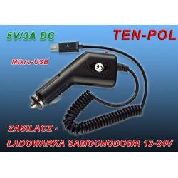 ŁADOWARKA 12-24V USB OUT 5V-3A  MIKRO-USB