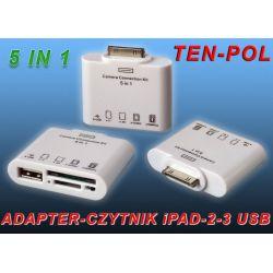 ADAPTER-CZYTNIK KART iPAD 1-2-3 iPHONE 4/4S