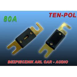 BEZPIECZNIK ANL CAR-AUDIO F-05 80A - GOLD -