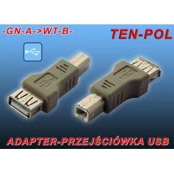 PRZEJŚCIÓWKA-ŁĄCZNIK USB WTYK B - A GNIAZDO