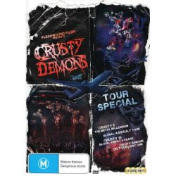 Crusty Tour Special (Crusty 5 - The Metal Millennium / Global Assault Tour / Crusty 15 - Blood, Sweat and Fears / Crusty Demons - On Tour Disc 1) on DVD.