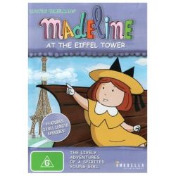 Madeline at the Eiffel Tower on DVD.