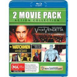 V for Vendetta / Watchmen on DVD.