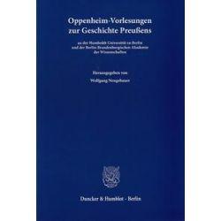 Bücher: Oppenheim-Vorlesungen zur Geschichte Preußens
