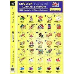 Angielski alfabet i kolory dobierz do pary 1