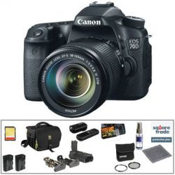 Canon EOS 70D DSLR Camera with 18-135mm f/3.5-5.6 IS STM Lens